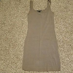 H&M brown mini tank dress